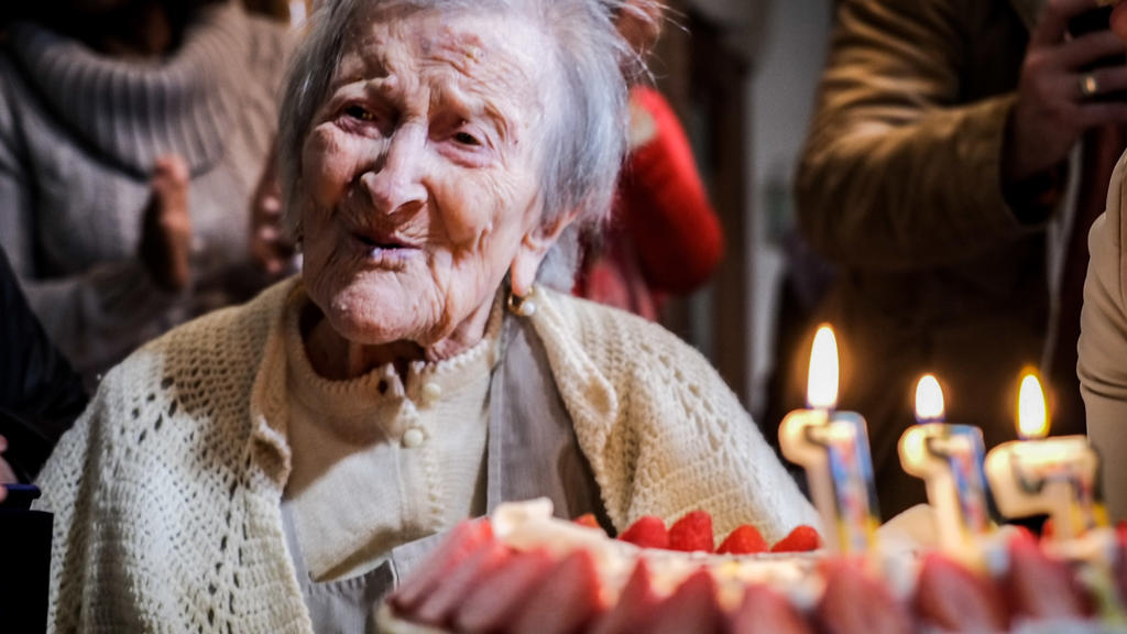 Ms. Emma Morano celebrating its one hundred seventeenth birthday. Emma is the oldest woman in the world, the only existing one that was born before 1900.Pallanza, Verbania, (IT)