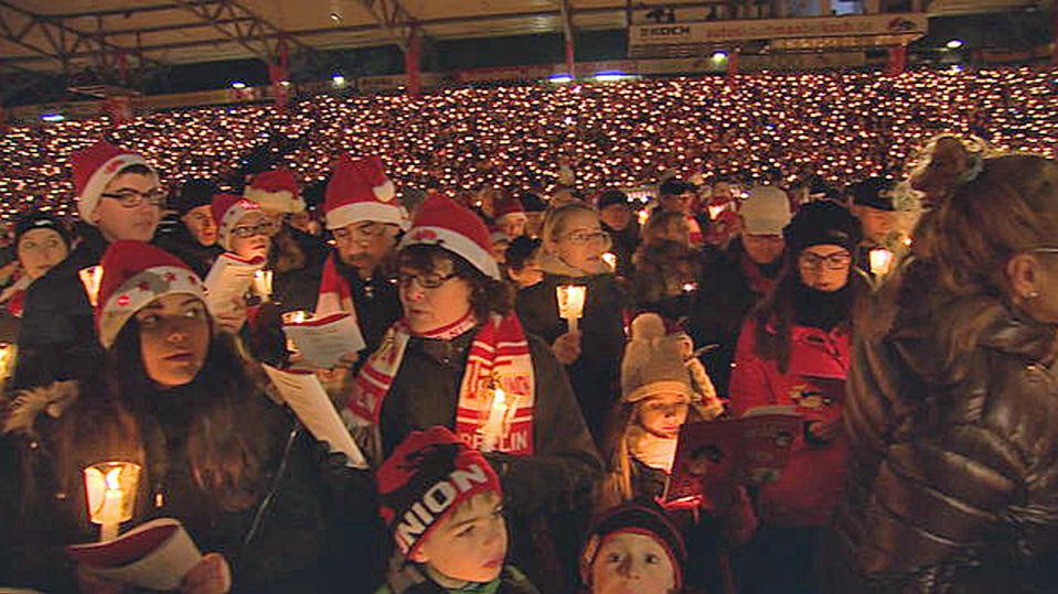 Auch in diesem Jahr findet das traditionelle Weihnachtssingen des Berliner Zweitligisten 1. FC Union Berlin statt.