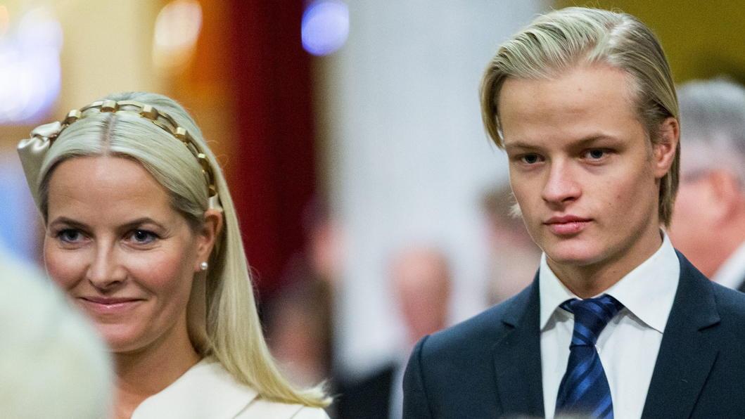 Mette-Marit und ihr Sohn Marius Borg Hoiby.