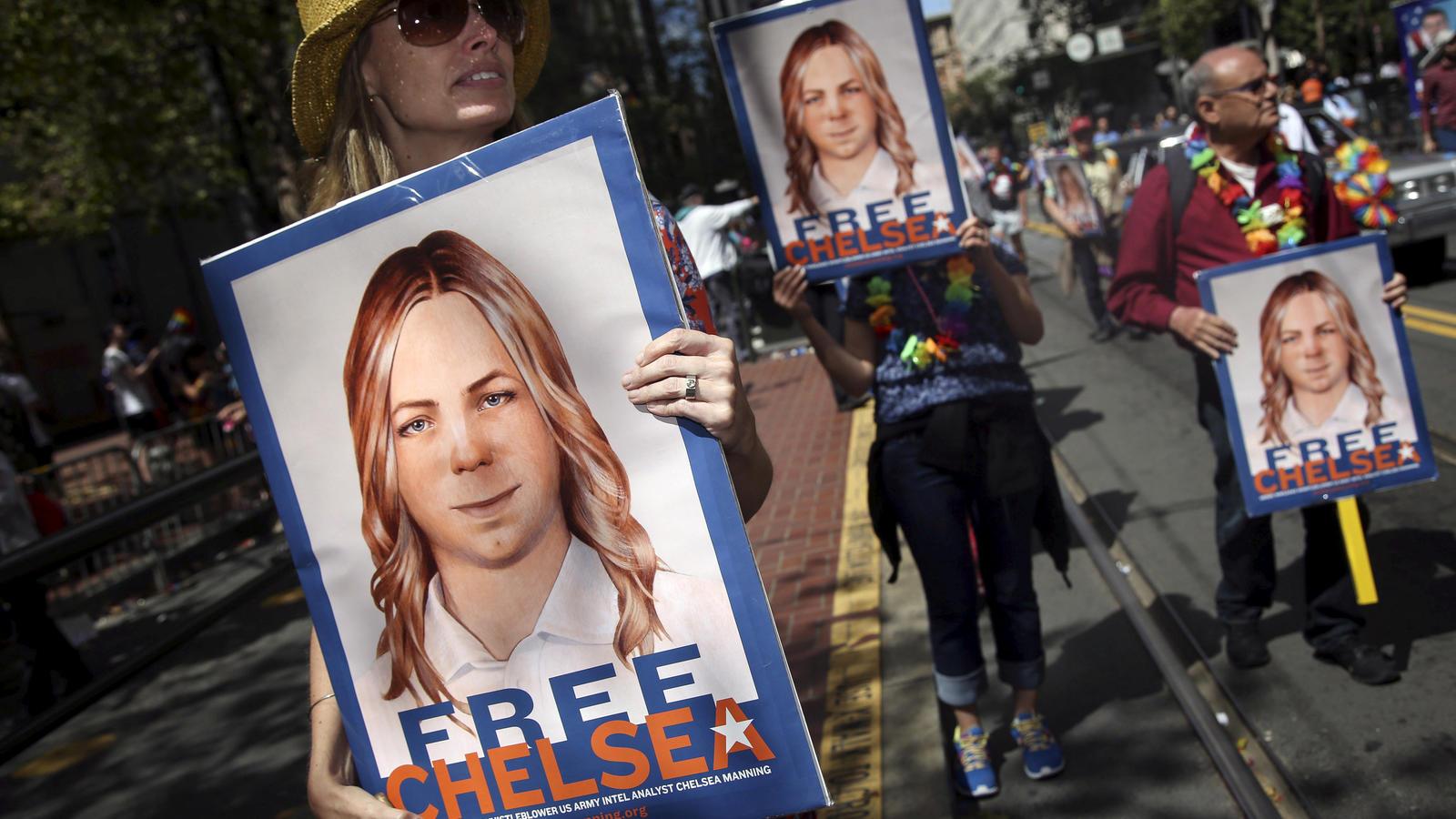 Seit ihrer Inhaftierung forderten viele US-Bürger die Freilassung der Whistleblowerin.
