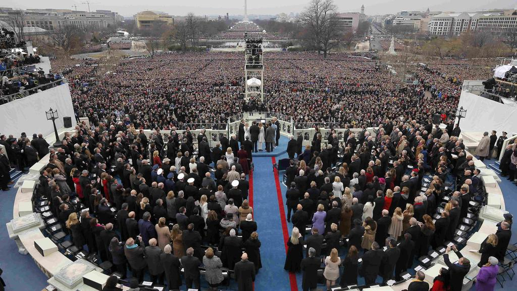 President Donald Trump takes the oath of office during inauguration ceremonies swearing in Donald Trump as the 45th president of the United States on the West front of the U.S. Capitol in Washington, U.S., January 20, 2017. REUTERS/Brian Snyder TPX I