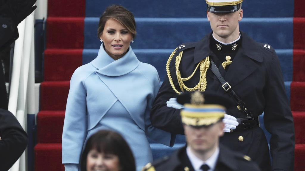 Melania Trump arrives at inauguration ceremonies swearing in Donald Trump as the 45th president of the United States on the West front of the U.S. Capitol in Washington, U.S., January 20, 2017. REUTERS/Carlos Barria