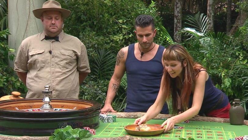 hanka Rackwitz und Marc Terenzi in der Dschungelprüfung
