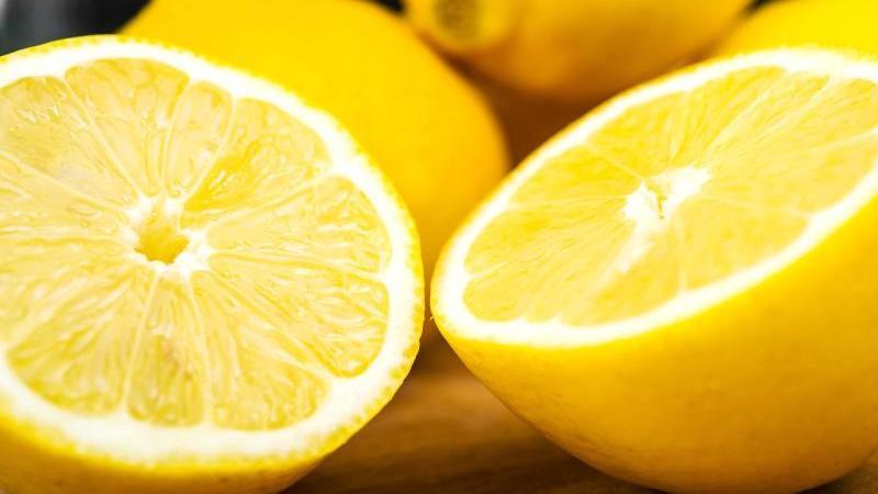 Saftige Zitronen erkennt man an ihren großen Poren.
