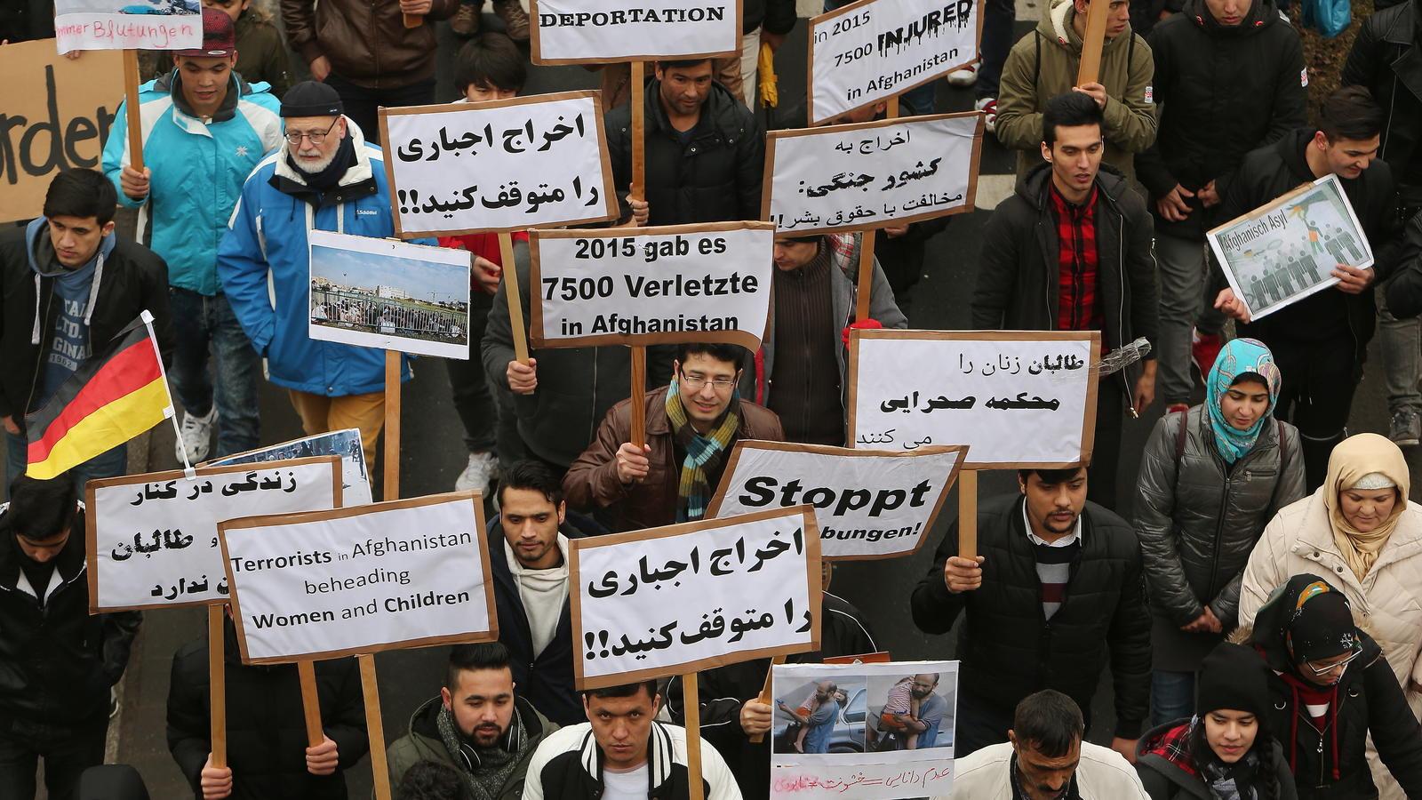 Demonstration gegen Abschiebungen nach Afghanistan