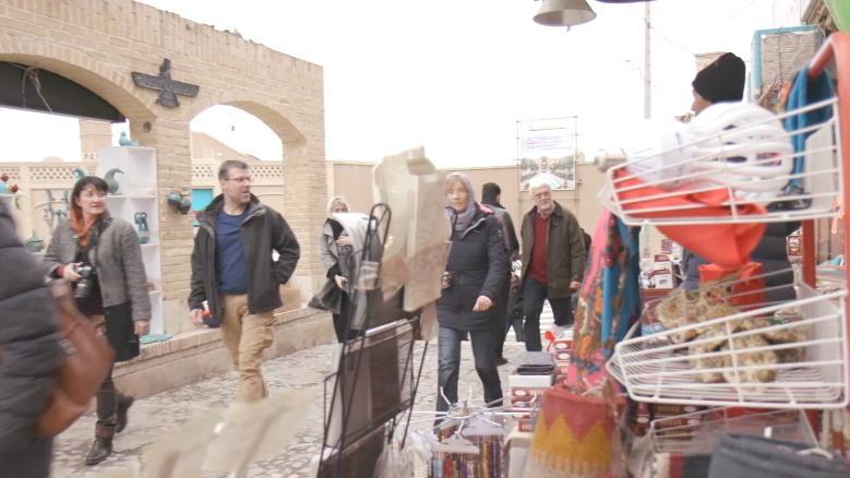 Deutsche Touristen erkunden Teheran