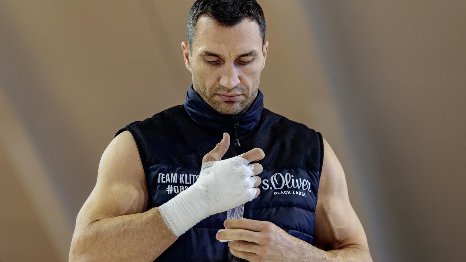 Wladimir Klitschko ist voll konzentriert bei der Vorbereitung auf seinen nächsten Kampf