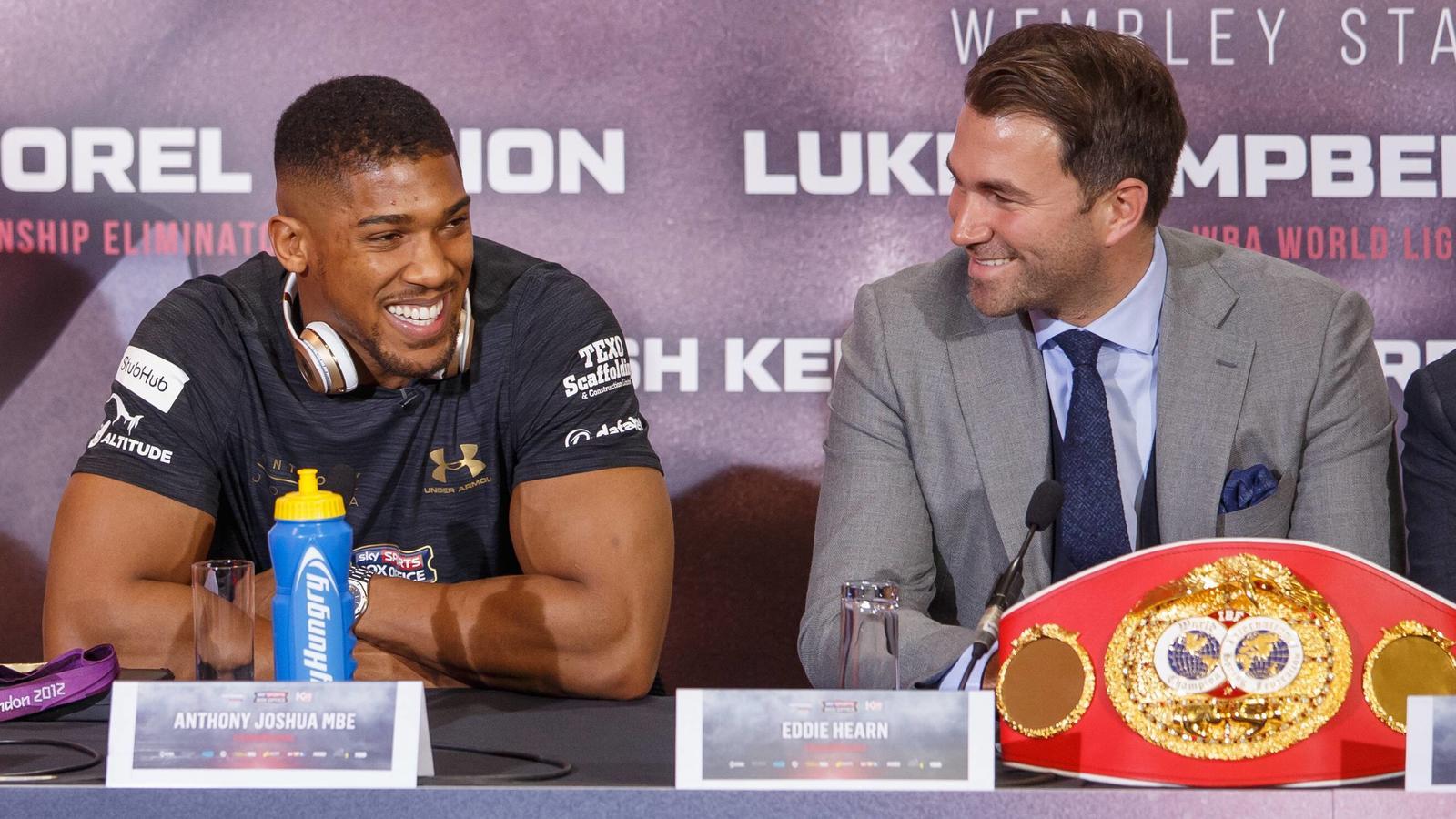 Eddie Hearn zieht für Box-Weltmeister Anthony Joshua die Fäden