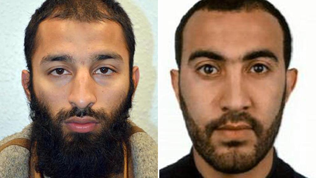 dpatopbilder - HANDOUT - Die von der Metropolitan Police am 05.06.2017 zur Verfügung gestellten Fotos zeigen Khuram Shazad Butt (l) und Rachid Redouane, zwei identifizierte mutmaßliche Attentäter des Terroranschlags in London (Bildkombo). (zu dpa «Po