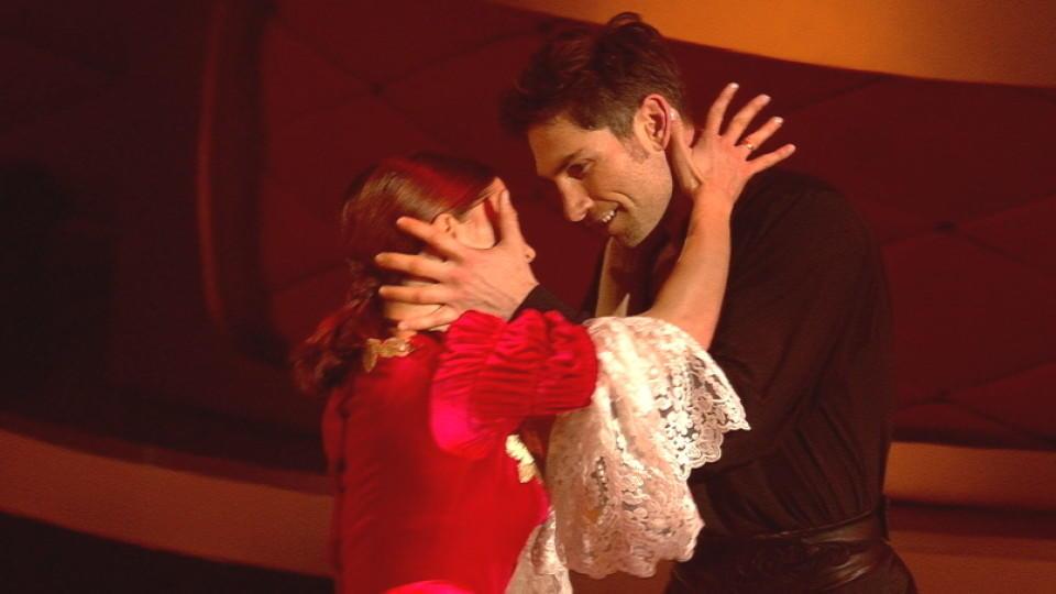 """Die """"Let's Dance""""-Finalisten Vanessa Mai und Christian Polanc mit ihrem """"Zorro""""-Freestyle"""