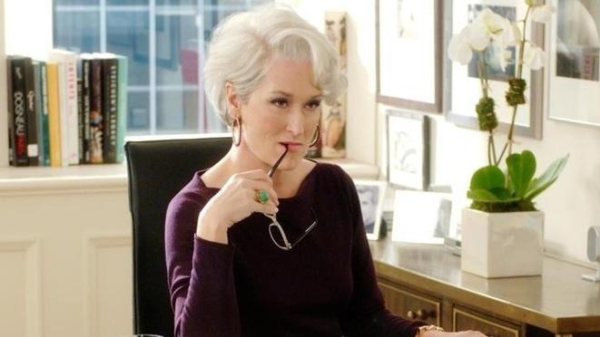 "Meryl Streep in ""Der Teufel trägt Prada"""
