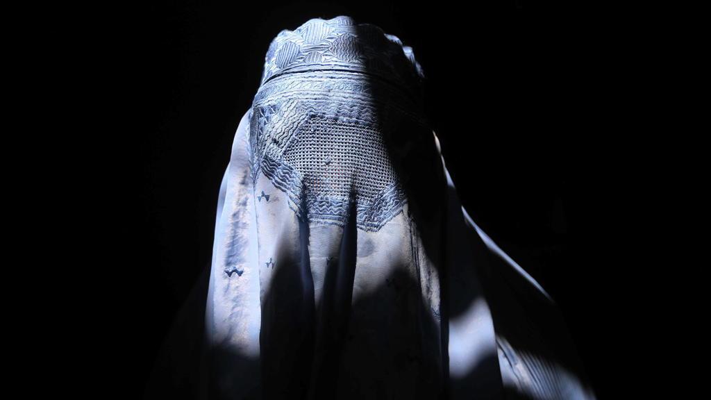 Frau in Burka in Afghanistan