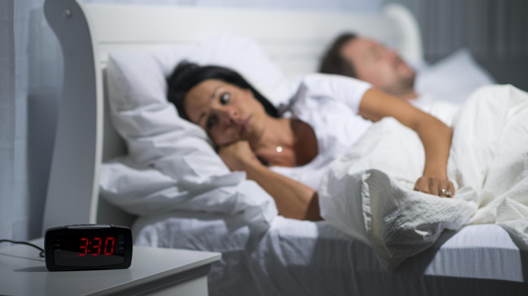 Frauen leiden unter Schlaflosigkeit.