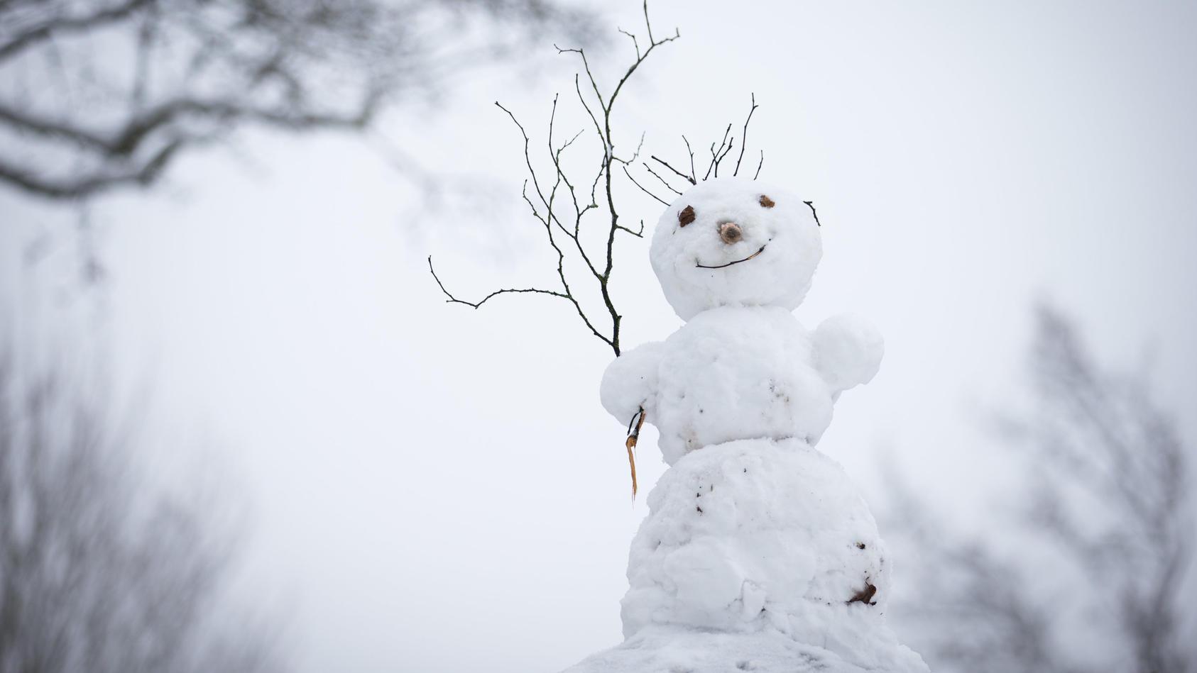 Dieser Schneemann könnte mal ein Autoreifen gewesen sein.