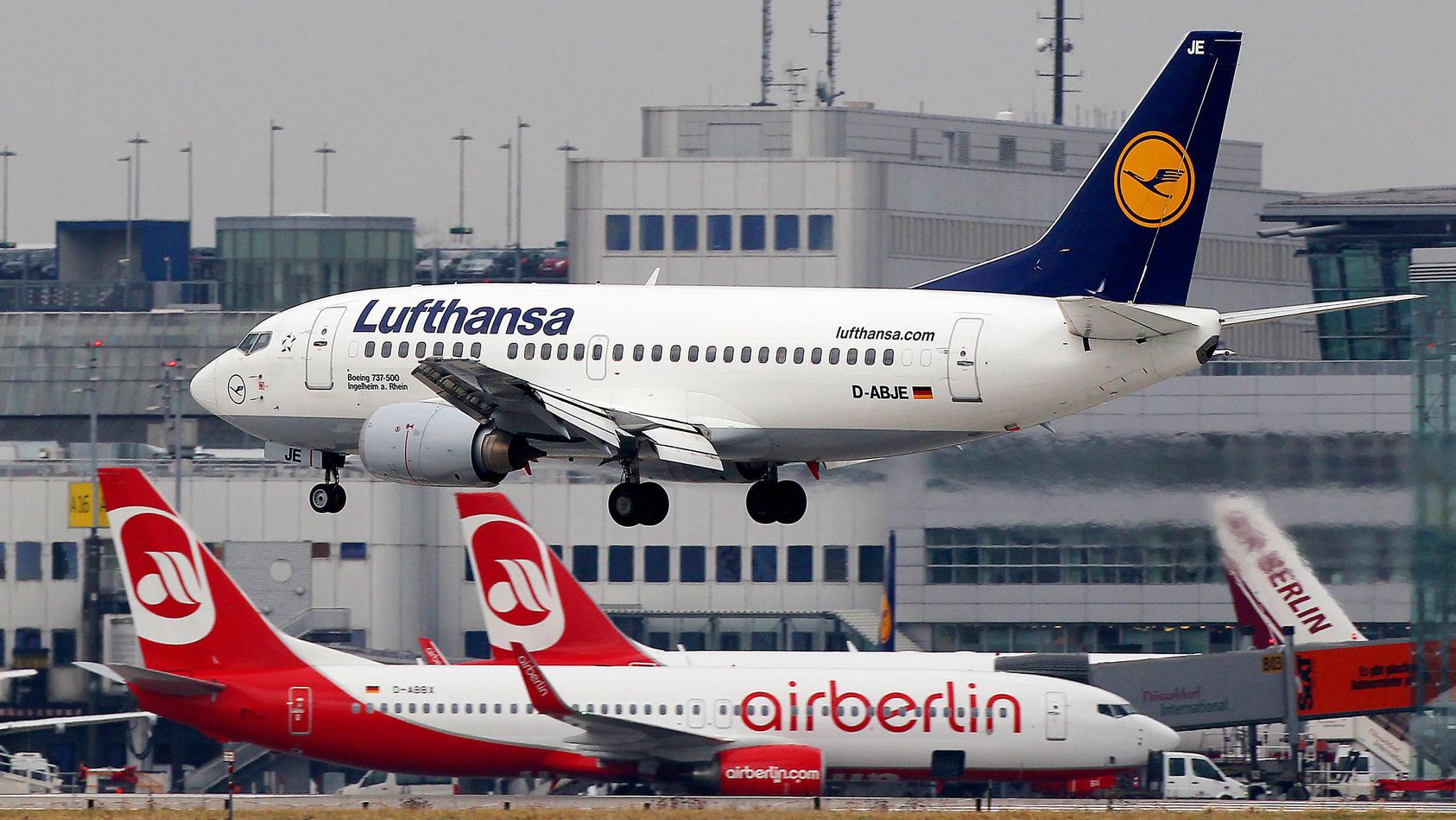 Die Lufthansa im Höhenflug: Die EU erlaubt den Kauf von Air-Berlin-Anteilen.