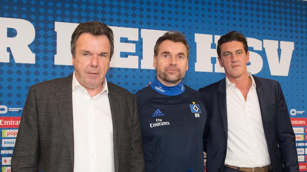 Heribert Bruchhagen, Bernd Hollerbach und Jens Todt