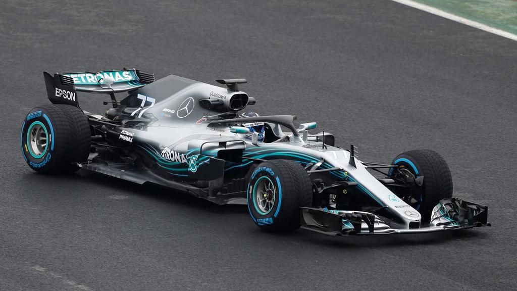 F1 Formula One - Mercedes 2018 Car Launch - Silverstone Circuit, Towcester, Britain - February 22, 2018   Mercedes' Valtteri Bottas during the launch   Action Images via Reuters/Matthew Childs
