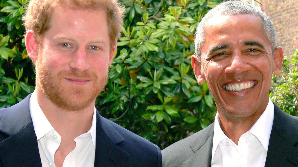 Prinz Harry und Barack Obama