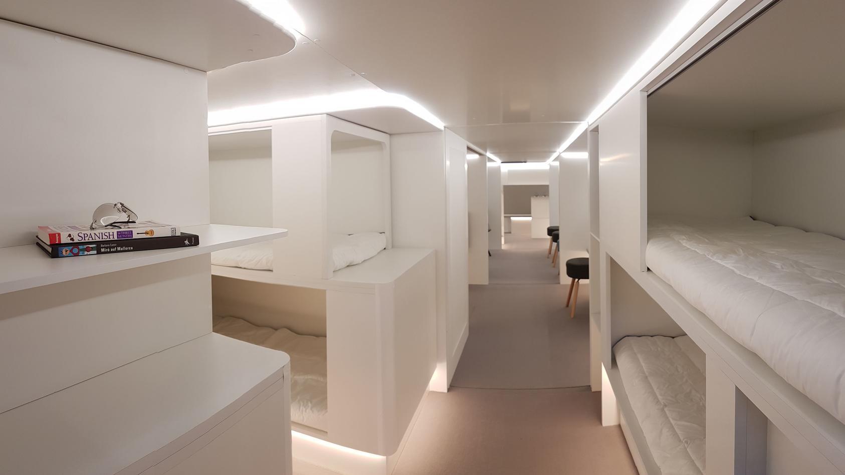 Das Konzept für die Kojen entwickelte Airbus gemeinsam mit dem Unternehmen Zodiac Aerospace. (Foto: Airbus)