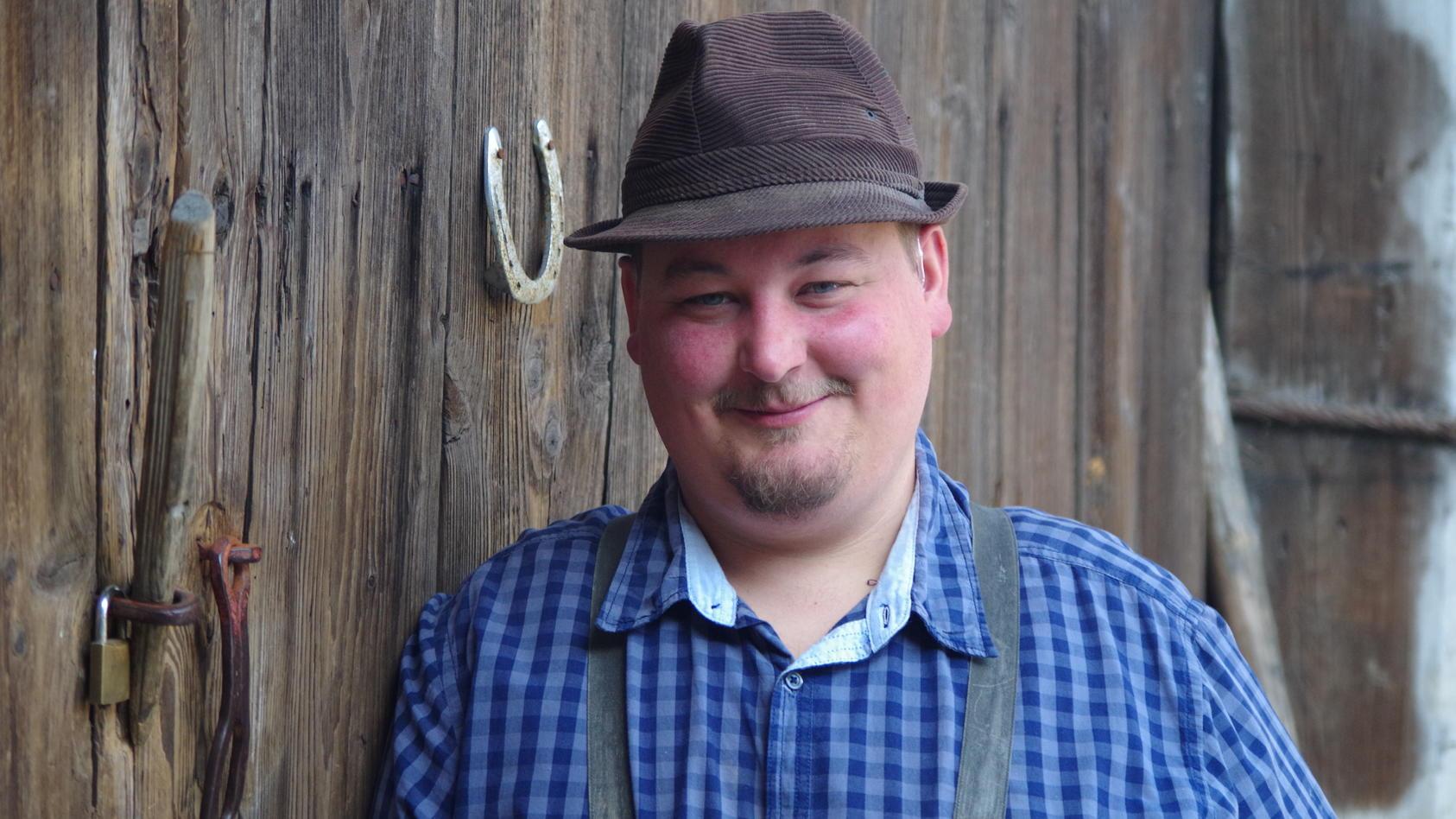 """Biobauer Christian, der von seinen Freunden """"Rüß"""" genannt wird, lebt in Oberfranken."""