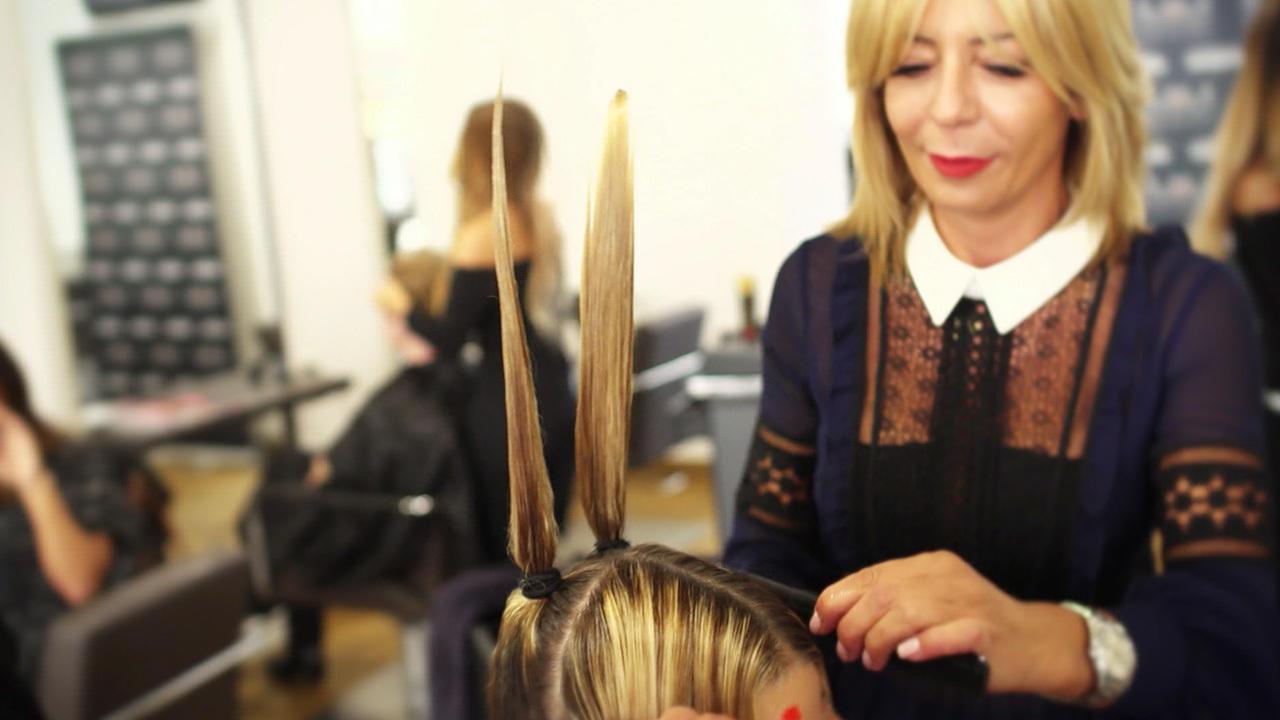Selber Haareschneiden mit Vier-Zopf-Schnitt